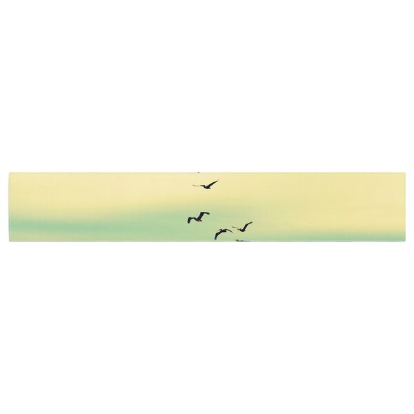 Robin Dickinson Across the Endless Sea Birds Table Runner by East Urban Home