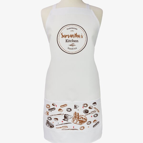 Personalized Homemade Goodies Kitchen Apron by Monogramonline Inc.