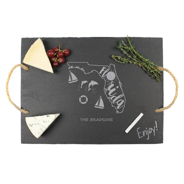 2 Piece Personalized My State Slate Serving Tray Set by Cathys Concepts