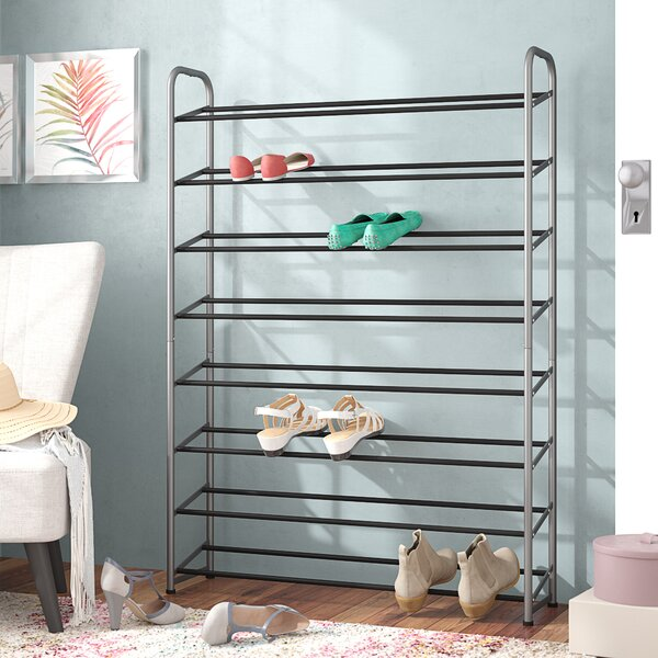 8-Tier 40 Pair Shoe Rack by Rebrilliant