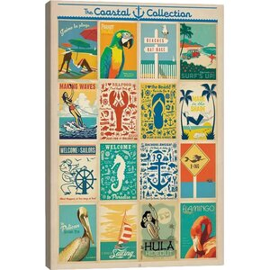 'Coastal Collection: Postcard Set #2 Box Cover' Vintage Advertisement by East Urban Home