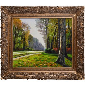 'The Road to Bas-Breau, Fontainebleau' by Claude Monet Rectangle Framed Painting by Fleur De Lis Living