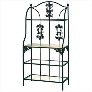 Savings Vineyard Wrought Iron Baker's Rack Great deals