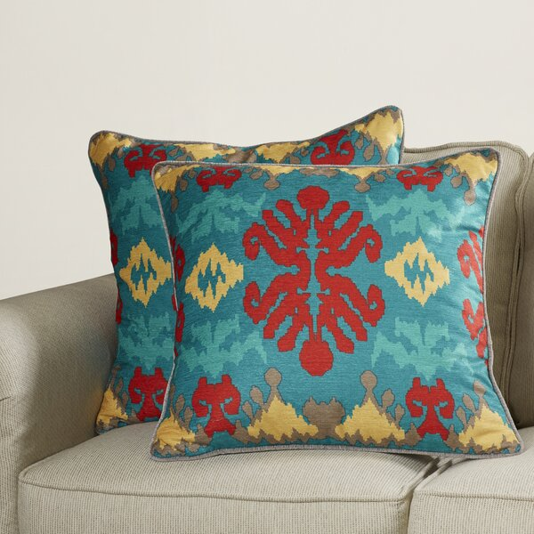 Kaplice Throw Pillow (Set of 2) by Bungalow Rose