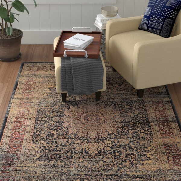 Cotaco Black/Oatmeal Area Rug by Fleur De Lis Living