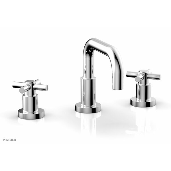 Basic Widespread Bathroom Faucet with Drain Assembly by Phylrich Phylrich