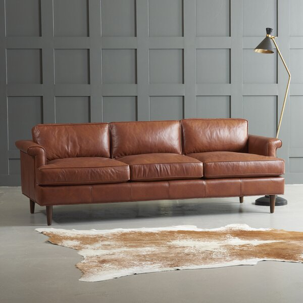 Admirable Modern Carson Leather Sofa By Wayfair Custom Upholstery Pabps2019 Chair Design Images Pabps2019Com