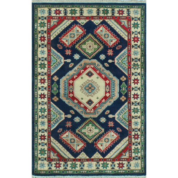 Brownridge Hand Knotted Wool Blue Area Rug by Bloomsbury Market