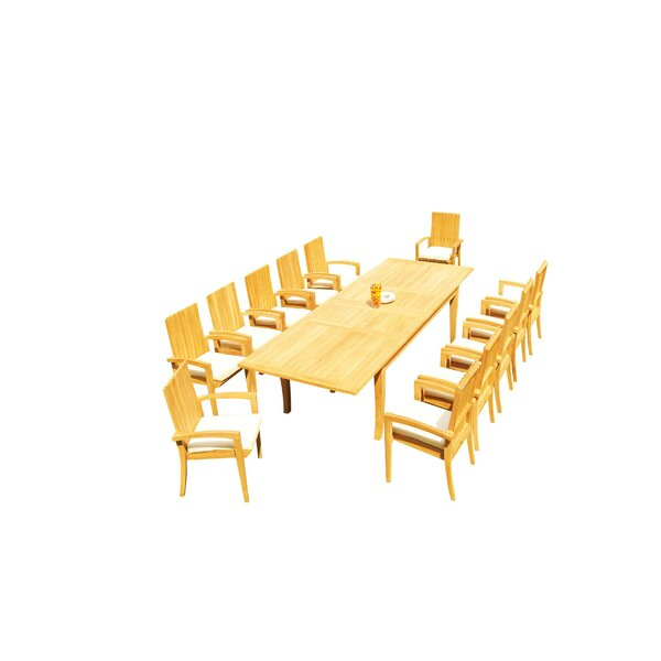 Masson 13 Piece Teak Dining Set