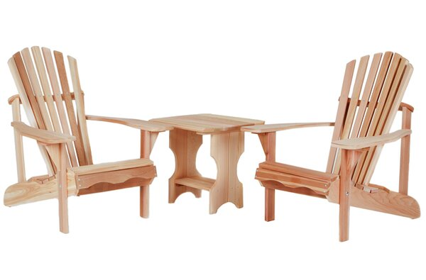 Western Red Cedar 3 Piece Conversation Set by All Things Cedar