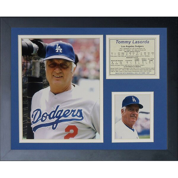 Tommy Lasorda Framed Memorabilia by Legends Never Die