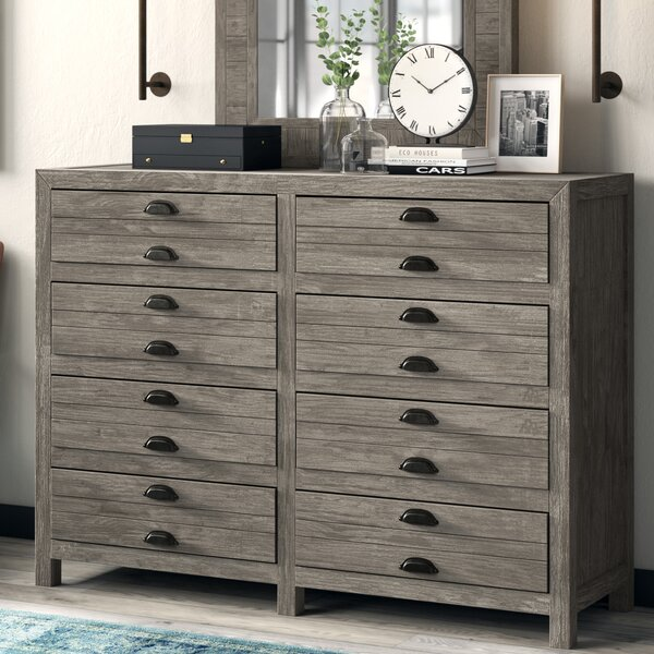 Modern  Dag 8 Drawer Double Dresser With Mirror By Trent Austin Design Coupon