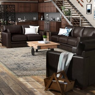 Jaynell 3 Piece Leather Living Room Set by Latitude Run®