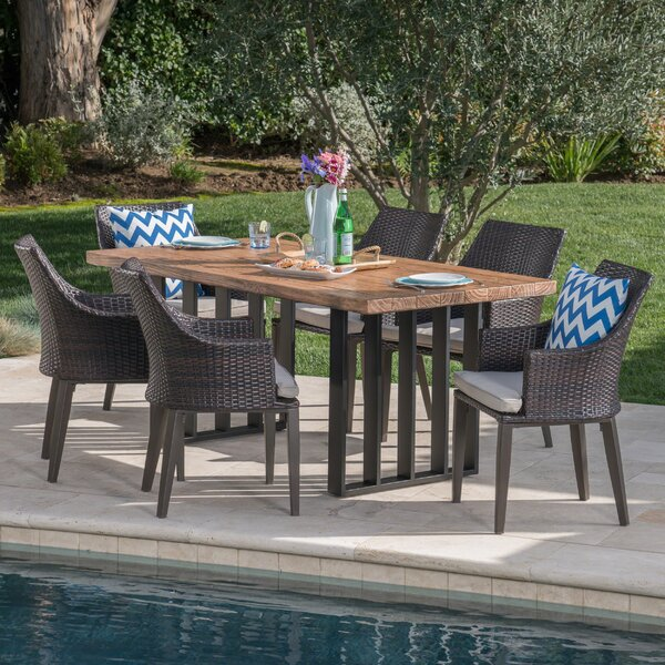 7 Piece Dining Set with Cushions by Gracie Oaks