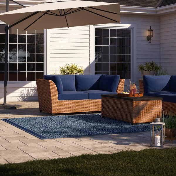 Waterbury 6 Piece Rattan Sofa Seating Group with Cushions by Sol 72 Outdoor