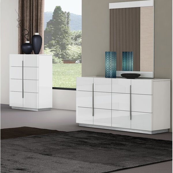 Riehle 6 Drawer Double Dresser with Mirror by Orren Ellis