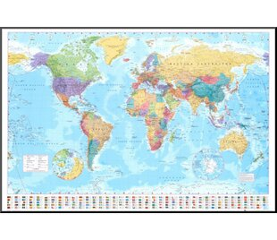 World Map Push Pin Framed Wayfair