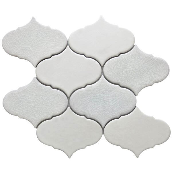 Retro 3 x 3 Porcelain Mosaic Tile in Beige by Emser Tile