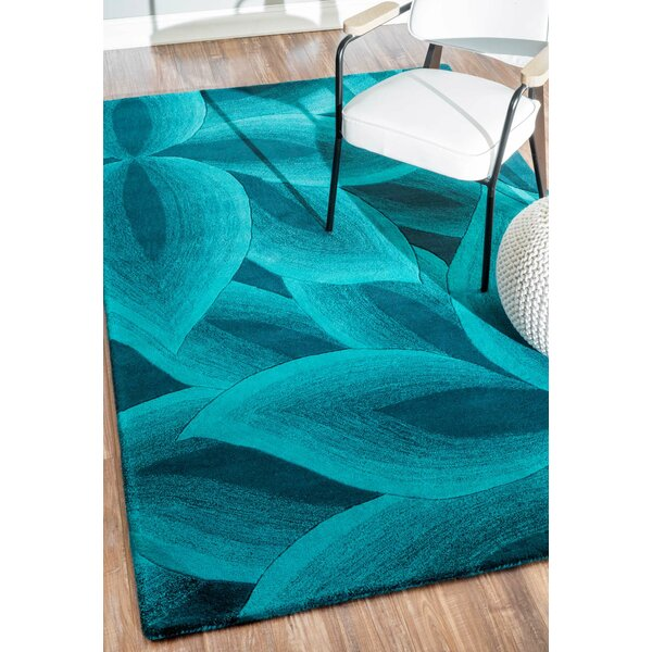 Modella Teal Fall Autumn Rug by nuLOOM