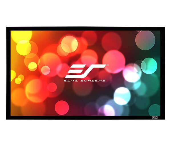 Sable Frame Grey Fixed Frame Projection Screen by Elite Screens