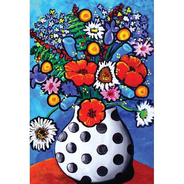 Polka Dot Vase Bouquet 2-Sided Garden flag by Toland Home Garden