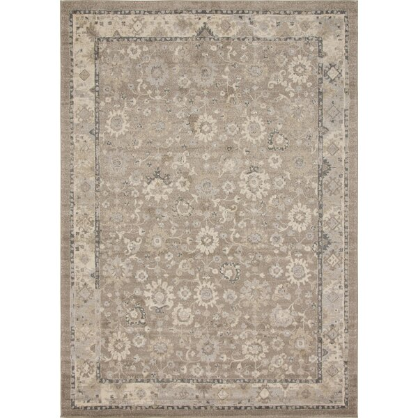 Ernst Beige Area Rug by Bungalow Rose