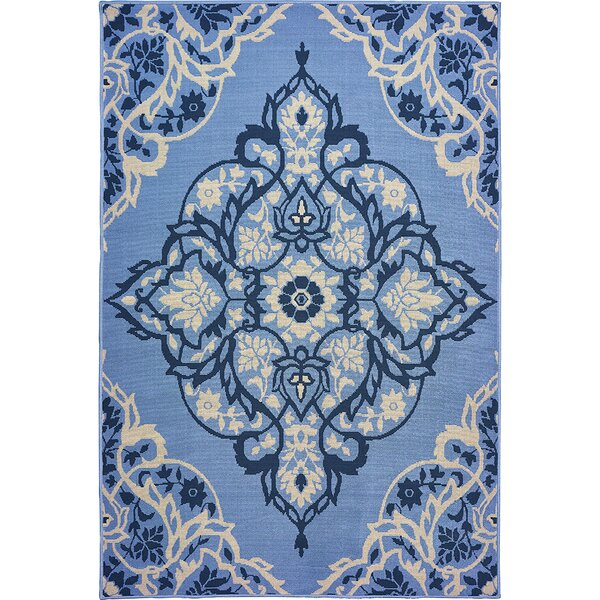 Sattler Blue/Gray Indoor/Outdoor Area Rug by Charlton Home