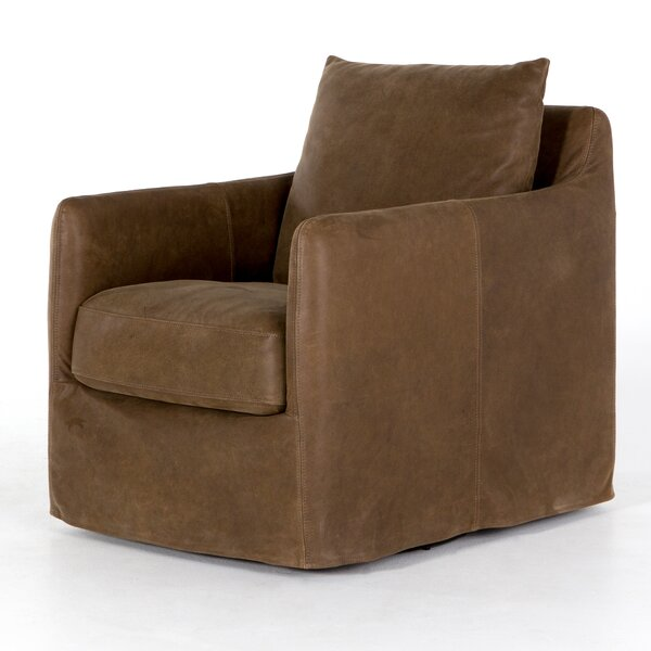 Stefania Swivel Armchair by 17 Stories
