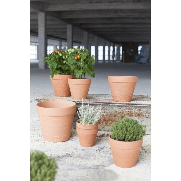 Allshouse Smiley Mini Terracotta Ceramic Pot Planter by Wrought Studio