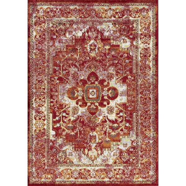 Palmerton Red Area Rug by Charlton Home
