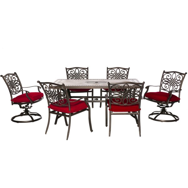 Sandefur 7 Piece Dining Set with Cushions