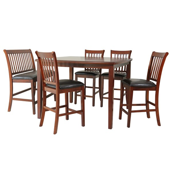 Gadsby 6 Piece Counter Height Solid Wood Dining Set by TTP Furnish