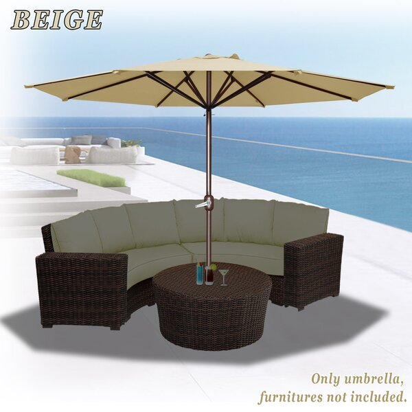 Tankersley 11.5' Beach Umbrella by Highland Dunes Highland Dunes