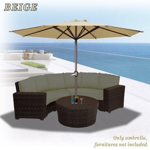 Tankersley 11.5' Beach Umbrella By Highland Dunes