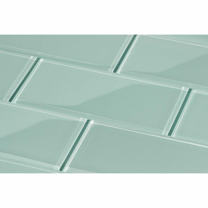 Giorbello 3 X 6 Glass Subway Tile In Baby Blue Reviews Wayfair