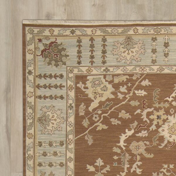 Cullen Hand-Woven Rust Area Rug by Darby Home Co