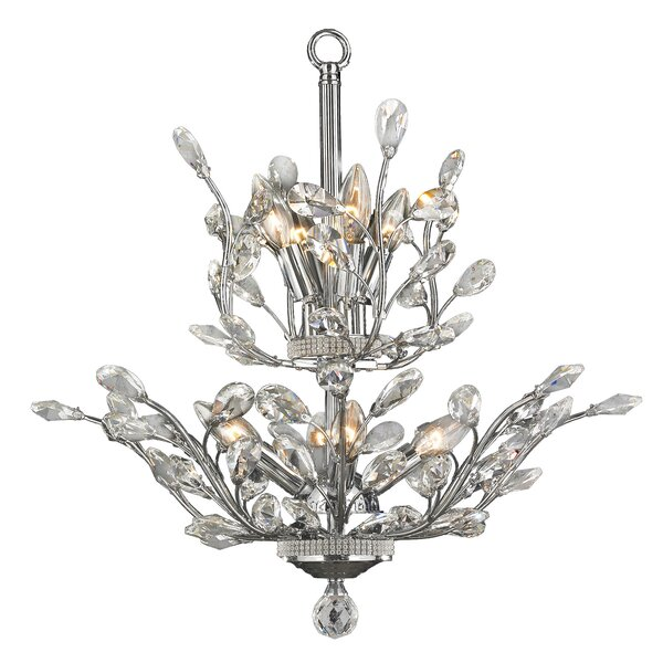 Safiya Contemporary 8-Light Candle Style Chandelier by Rosdorf Park