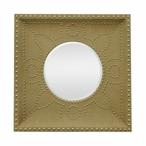 Forde Wood Burlap Beveled Accent Mirror by Bungalow Rose
