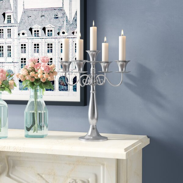 Metal Candelabra by Three Posts