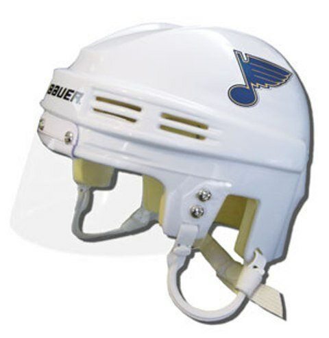 Official NHL Licensed Mini Player Helmets - St Louis Blues (White) by Bauer