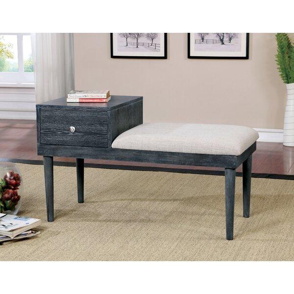 Ellicott Upholstered Drawer Storage Bench