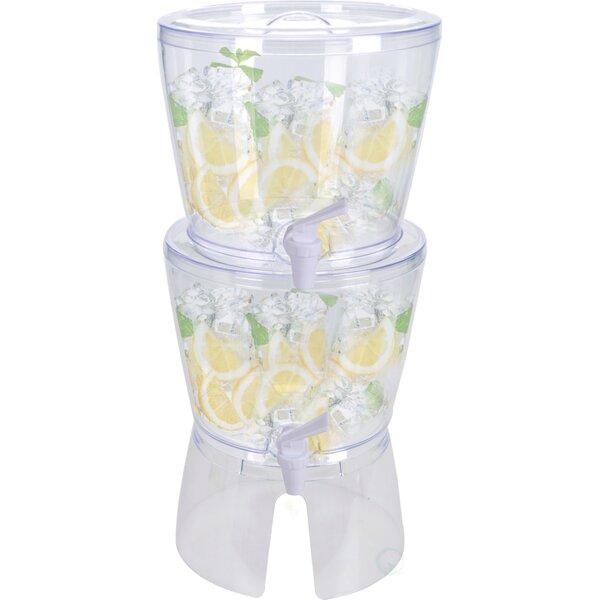 2 Piece Stackable Beverage Dispenser Set by Symple Stuff
