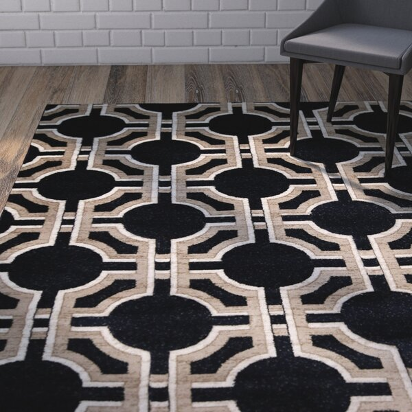 Wahl Hand Carved Navy Area Rug by Wrought Studio
