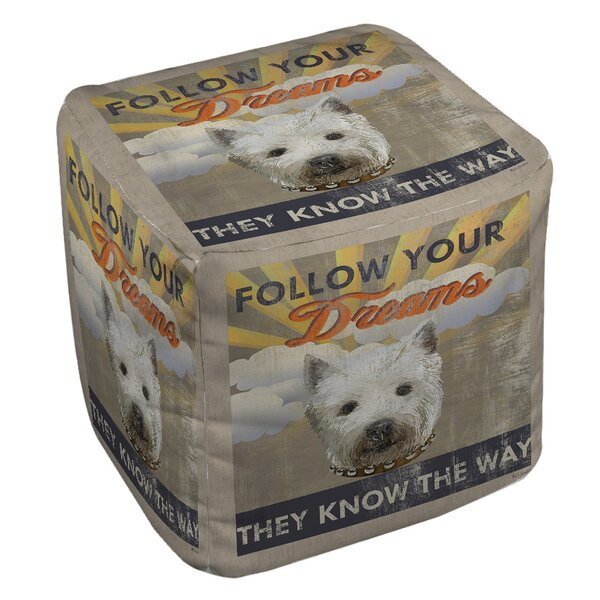 Dog Days - Pek Pup Pouf by Manual Woodworkers & Weavers