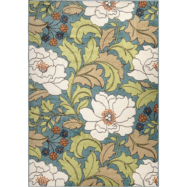 Aalia Blue Indoor/Outdoor Area Rug by Winston Porter