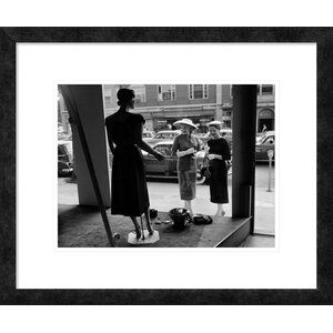 'Women Looking at Window Display' Framed Photographic Print by Global Gallery