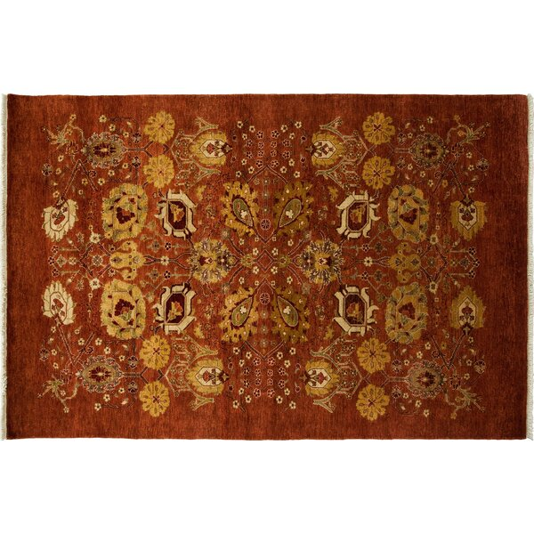 One-of-a-Kind Ottoman Hand-Knotted Red Area Rug by Darya Rugs