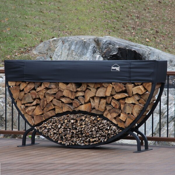 8' Round Firewood Log Rack By ShelterIt