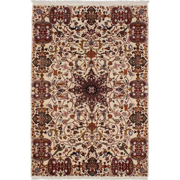 One-of-a-Kind Dodds Hand-Knotted Wool Cream Area Rug by Isabelline