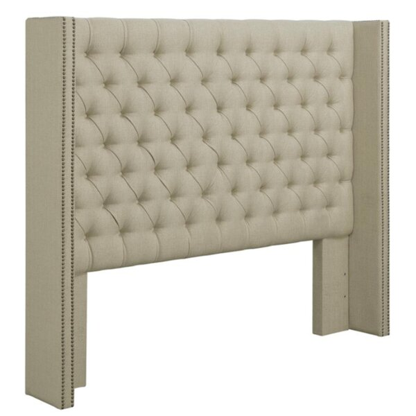 Watson Upholstered Wingback Headboard by Canora Grey